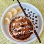 Muffins Bananes aux pépites de chocolat noir